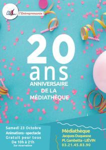 Votre médiathèque fête ses 20 ans  !